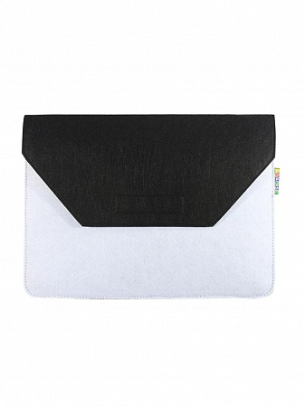 "VIVACASE Папка для MacBook Felt 12-13.3"", фетр, черно/белый (VCN-FELT133-bl-w)"